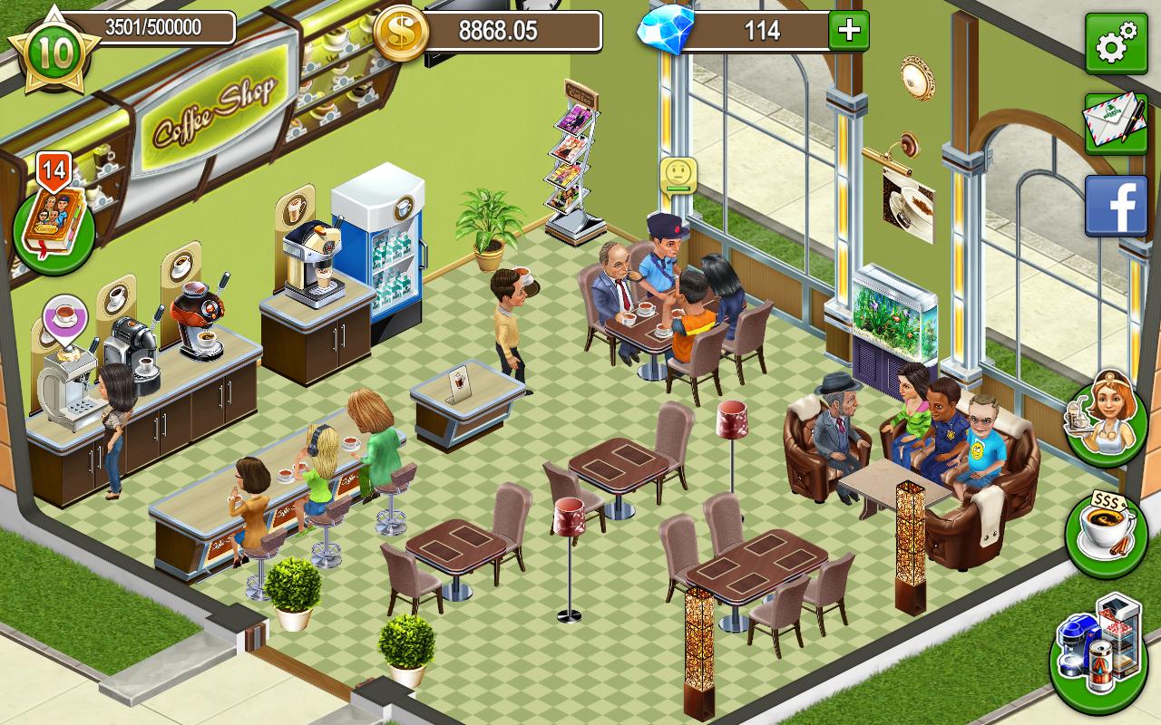 Моя кофейня игратьы
